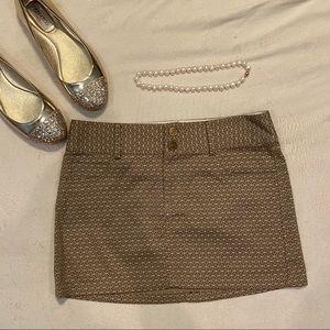 Alice + Olivia Gold Patterned Mini Skirt